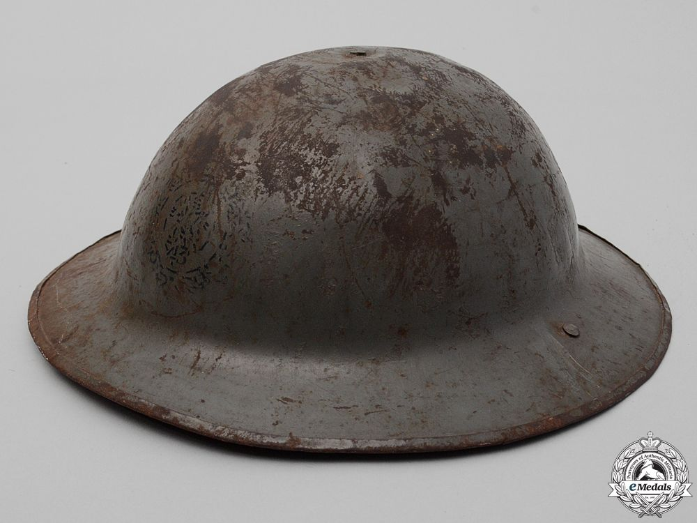 A First War Mark II 43rd Infantry Battalion Helmet   eMedals