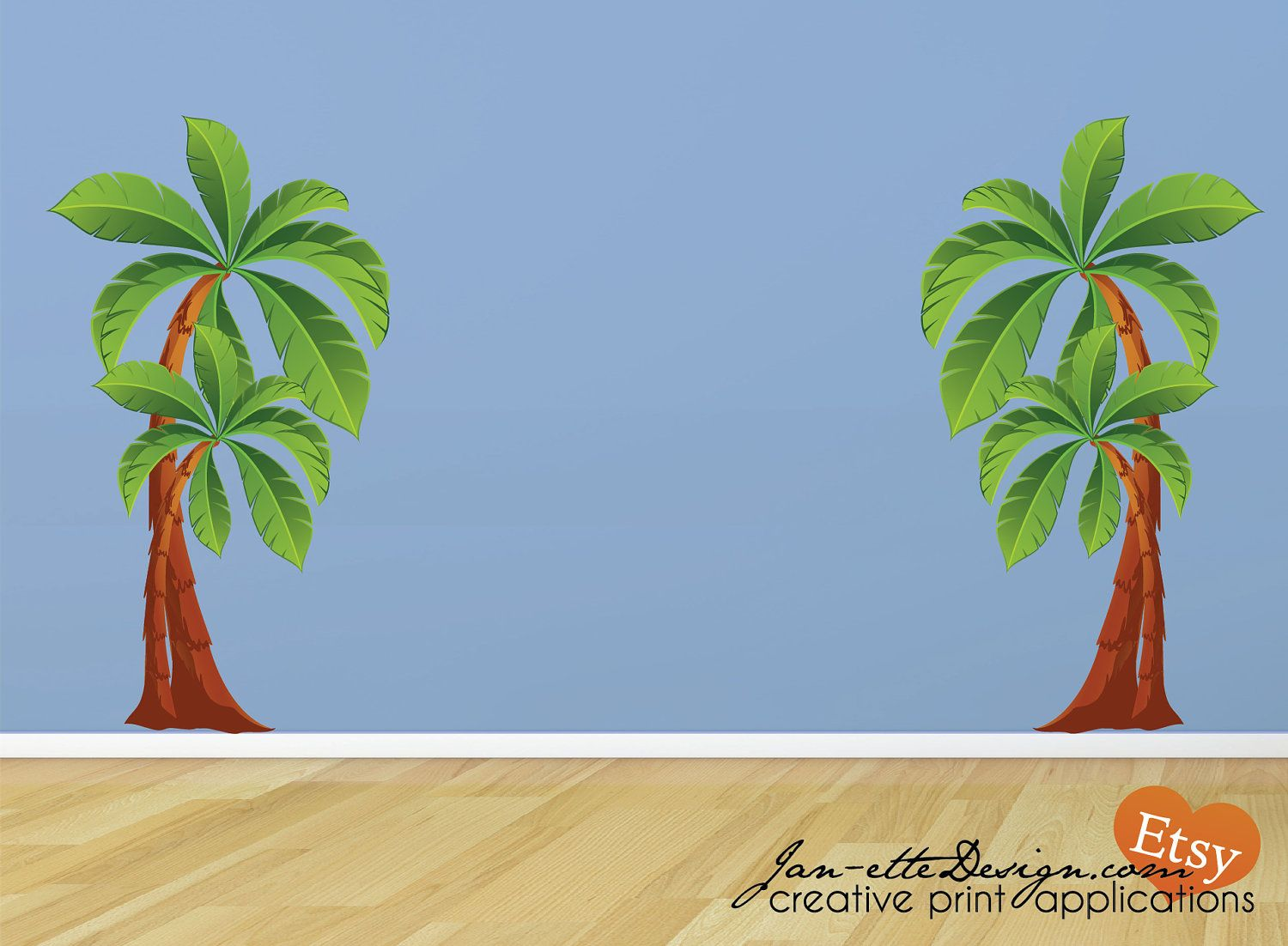 Popular Items For Palm Tree Wall Decal On Etsy