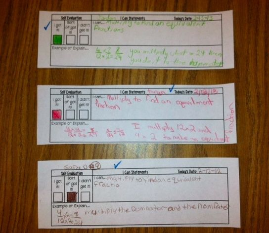 Exit Tickets For I Can Statements  Math    Math