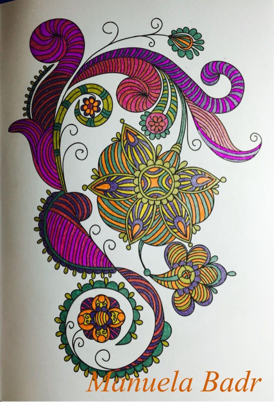Uit het blauwe tatoo boek van Action | Gekleurd met gelpennen | 17-08-2015