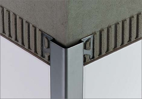 Aluminum Edge Trim For Tiles Outside Corner Schluter Eck E Schluter Systems Tile Trim Tile Work Tiles