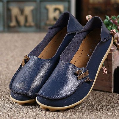 womens leather shoes loafers driving peas walking moccasin