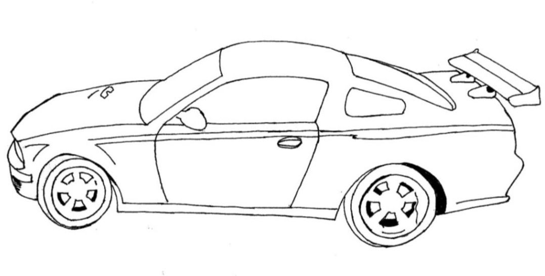 easy race car coloring page to print