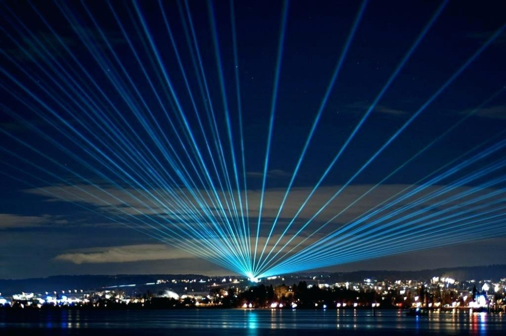 Laser Light Sky Blue Google Search Laser Lights Light Show Outdoor