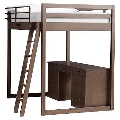 Waverly Loft Storage Desk Set Loft Bed Loft Storage Loft Desk