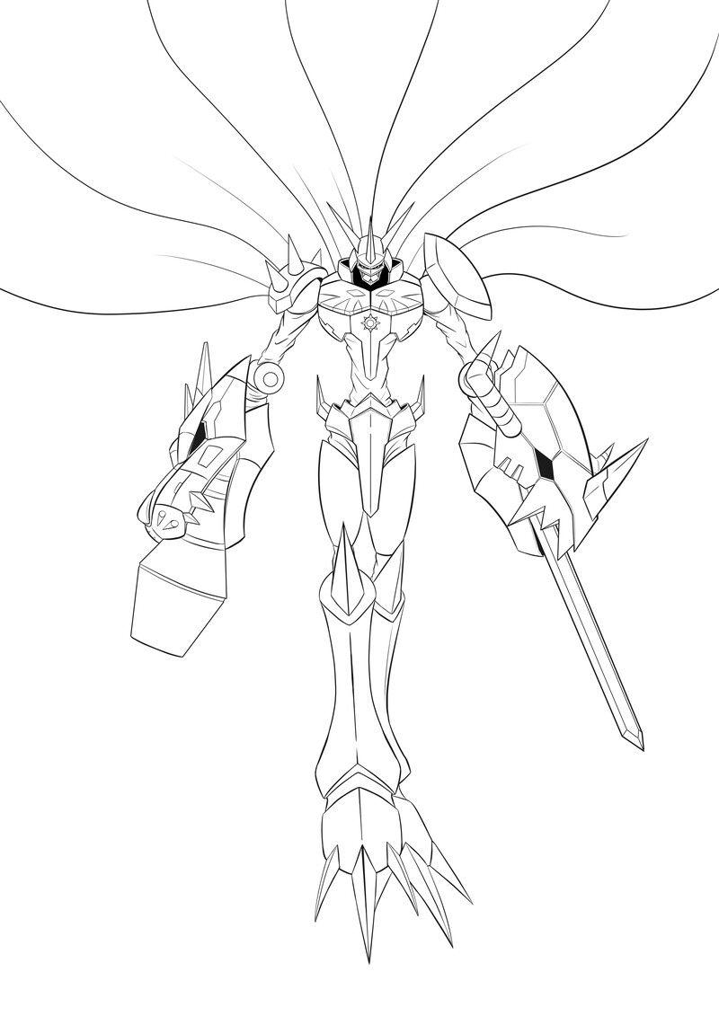 Artstation Digimon Tribute Omnimon Johann Dakitsch In 2020 Digimon Artwork Anime
