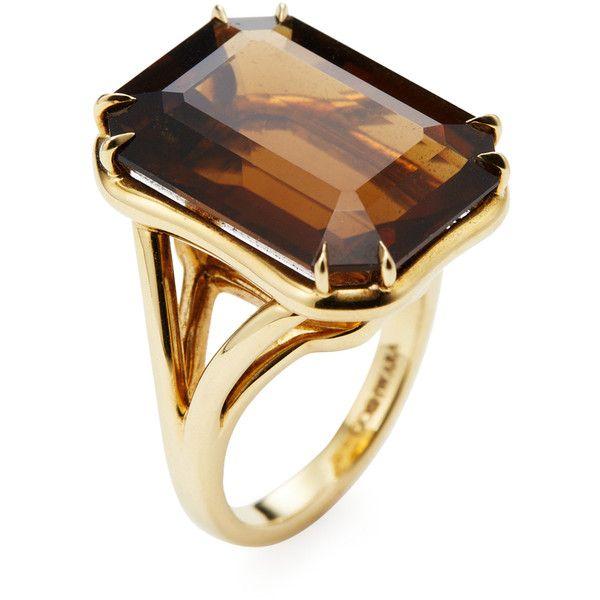 Goshwara Gossip Citrine Emerald Cut Rings - 6.5 (M) LeeYZ