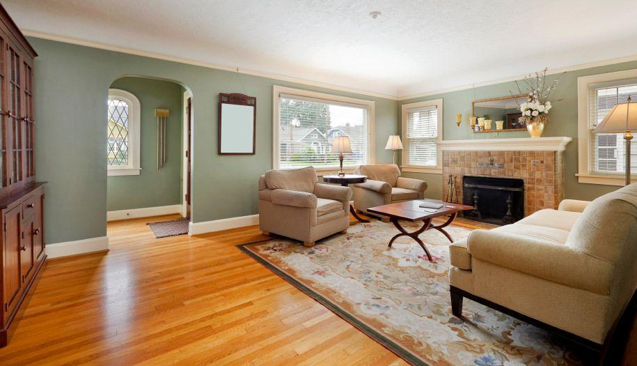 40 Green Living Room Ideas (Photos) | Living room wood ...