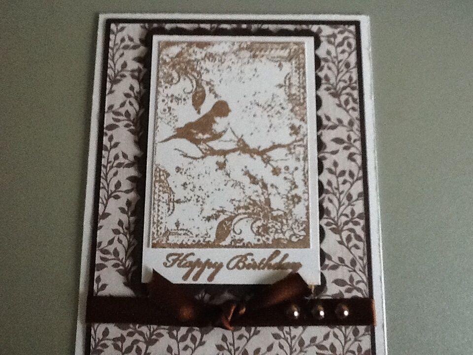 Design papier en vogel stempel