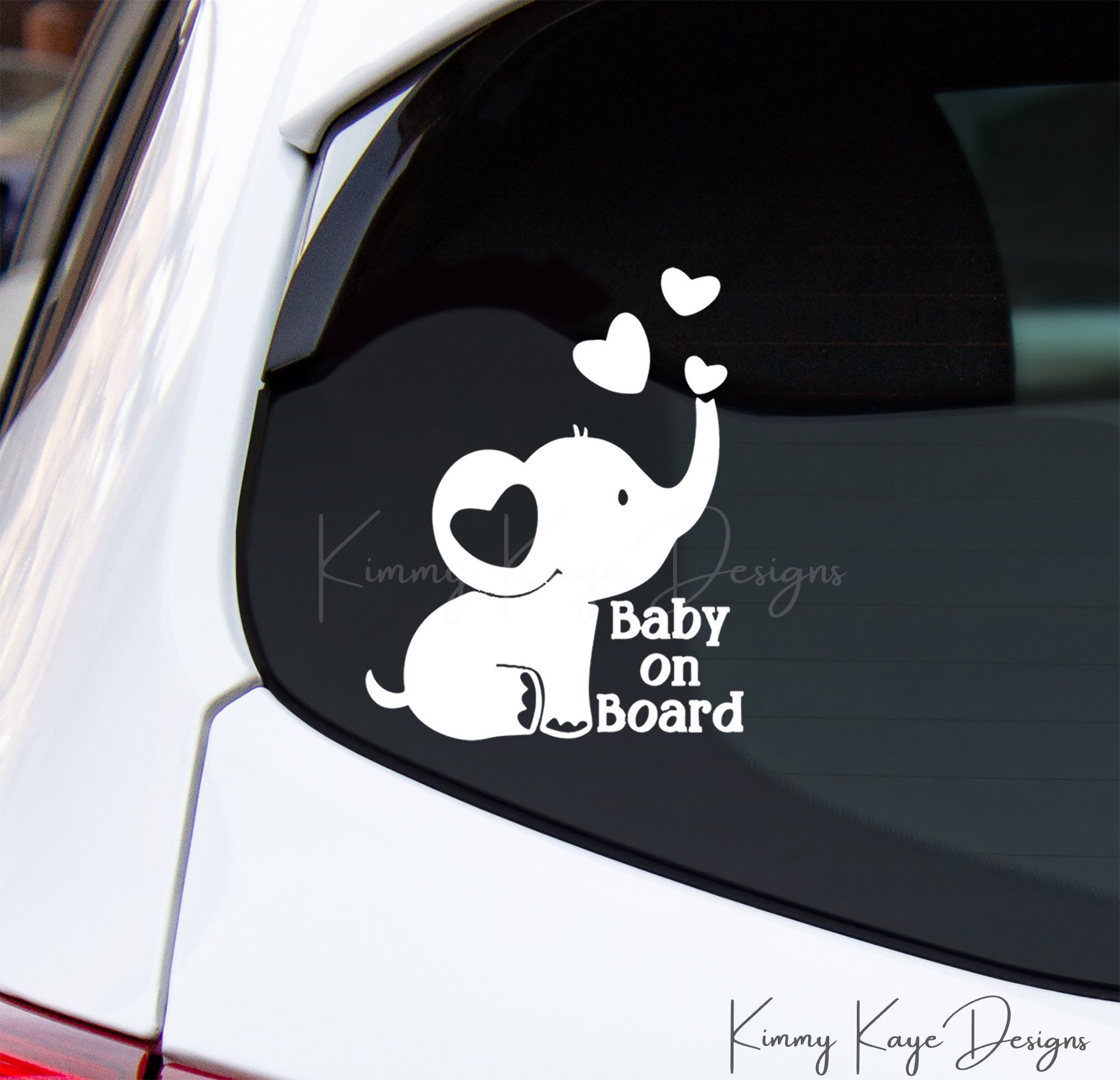 Baby On Board Decal Baby Elephant Car Decal Informs Rescue Workers In An Emergency Baby Elephant Elephant Car Car Decals [ 1929 x 2000 Pixel ]