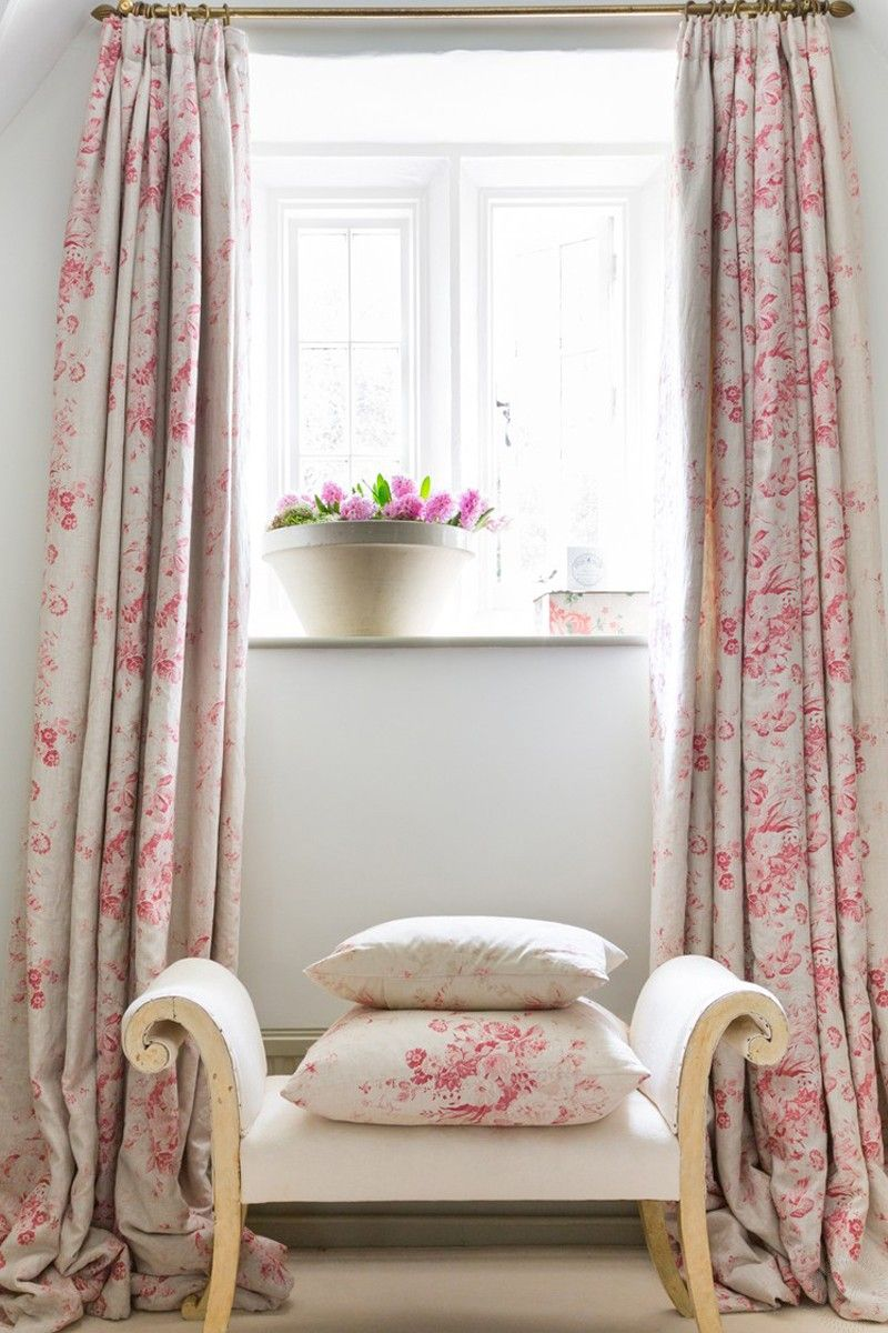 Pin By Cheryl Dahms On Windows Rose Curtains Cottage Curtains