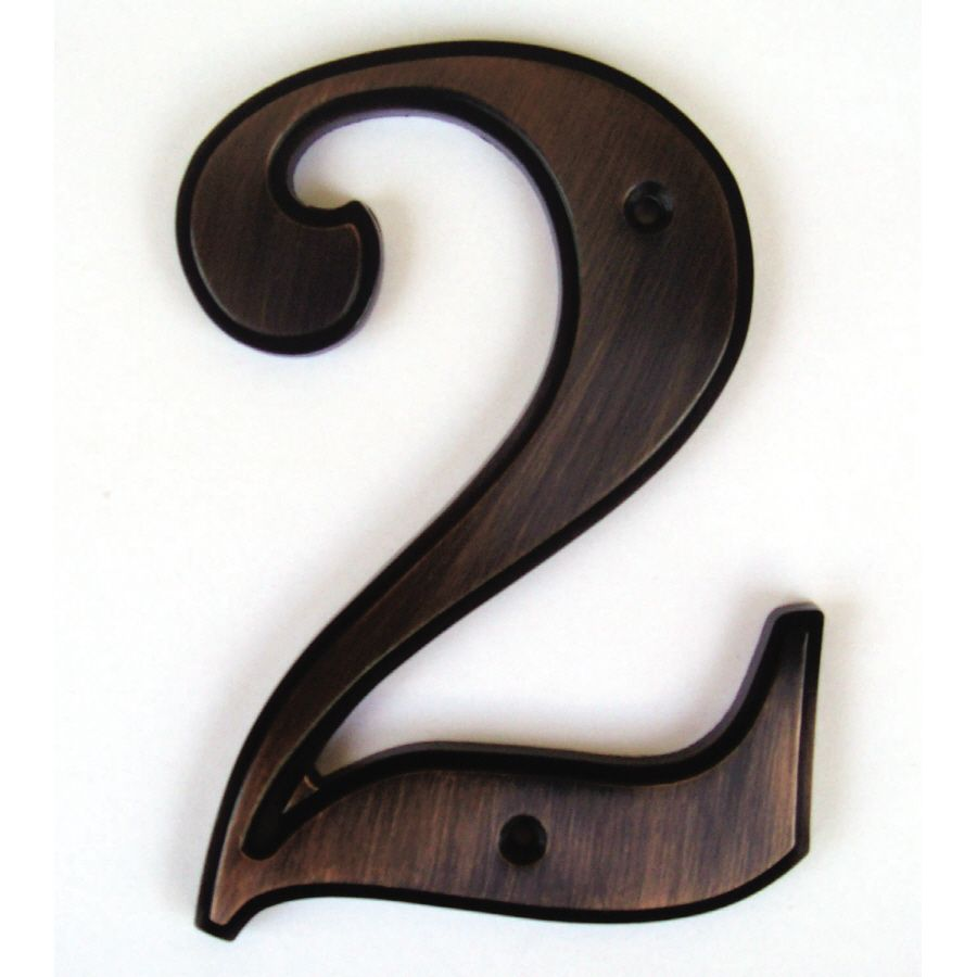 Gatehouse 5 In Aged Bronze House Number 2 Lowes Com Bronze House House Numbers Bronze