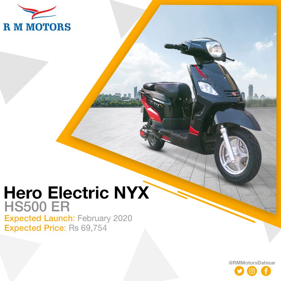 Hero Motocorp Launches Hero Electric Nyx Hs500 Er Features