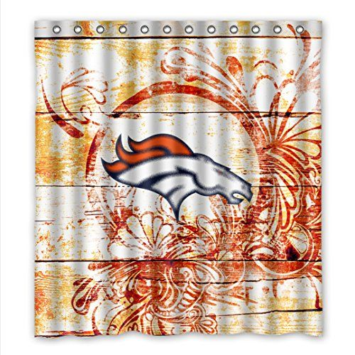 Wenglee NFL Denver Broncos Waterproof Fabric Bathroom Shower Curtain 66 X 72about