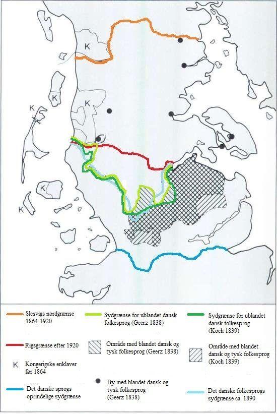 Dansk Sprog Og Kulturpolitik I Slesvig 1850 1864 Geografi