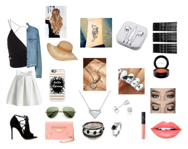 """""""Spring Look"""" by paradise-queen on Polyvore featuring Chicwish, Gianvito Rossi, Casetify, Amanda Rose Collection, NOVICA, NARS Cosmetics, Fiebiger, MAC Cosmetics, PhunkeeTree and Monki"""