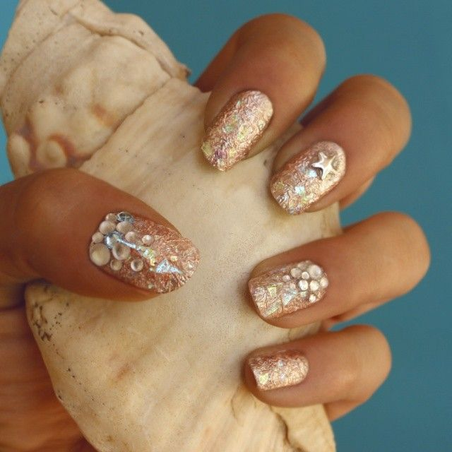 Mermaid nails - uñas efecto sirena | Decoración de uñas | Pinterest ...