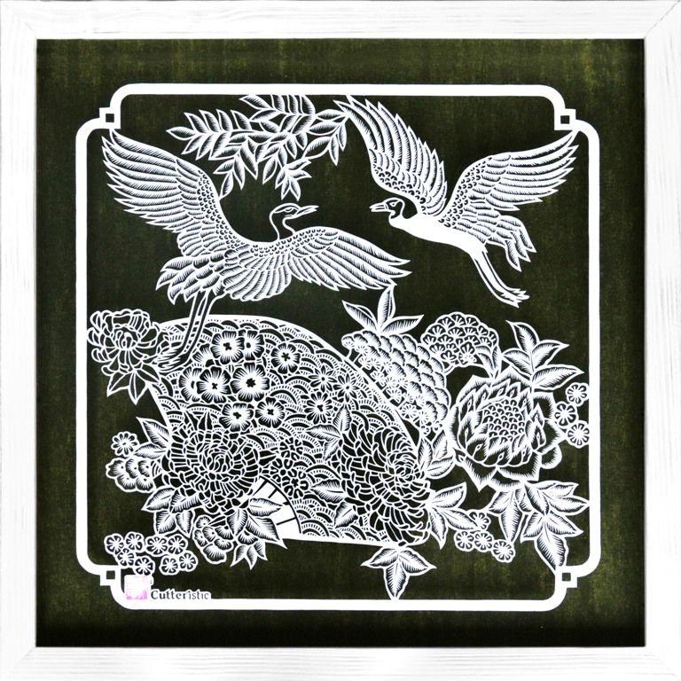 Batik Hokokai Burung Bangau Kipas In 2020 Paper Artist Artist Collective Artist