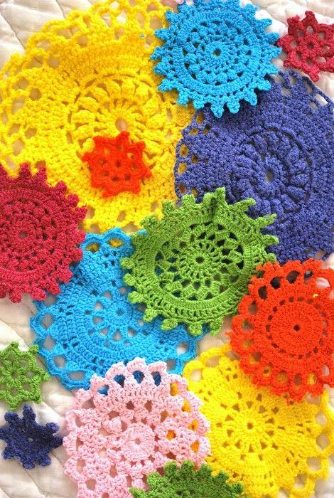 look like cute little crocheted mandalas | crochet | Pinterest ...