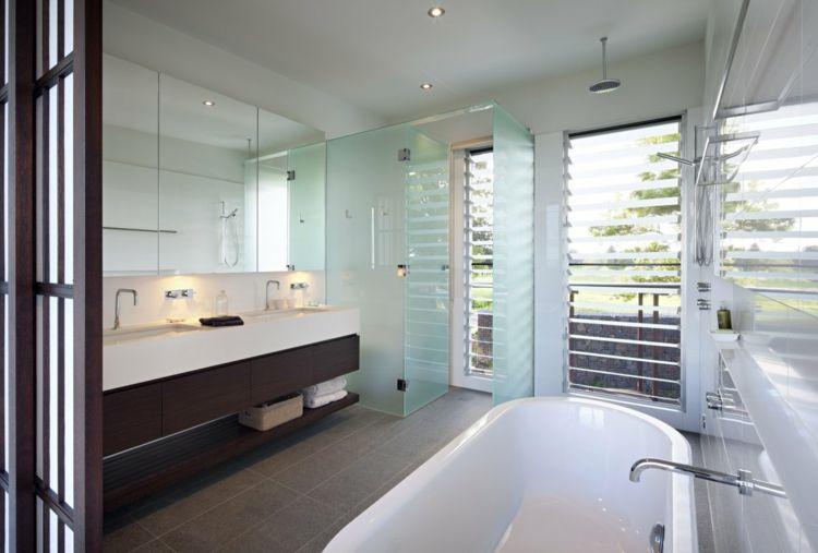 Minimalistisches Bad Design \u2013 38 Ideen für edle Badezimmergestaltung