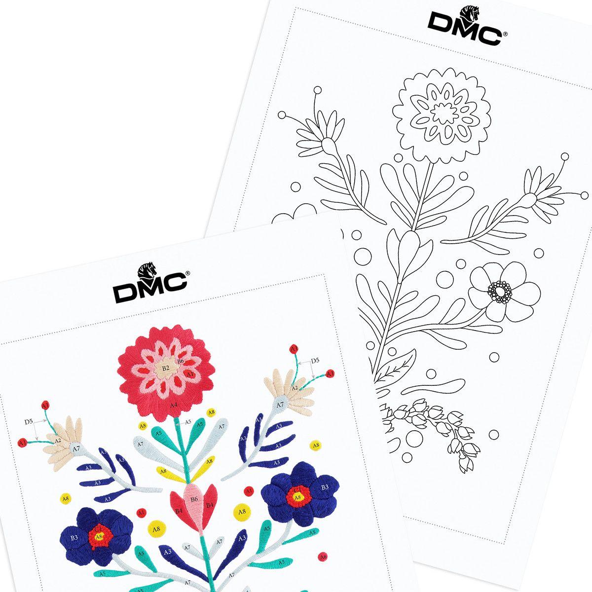 Motivo del bordado del ramo floral | PATRONES | Pinterest | Ramos ...