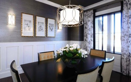 This Dining Room Is Exquisite The Beadboard Accents On Walls Truly Make Look Custom We Love Chandelier Over Table Too