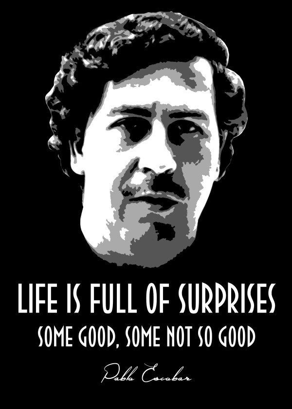 Pablo Escobar Pablo Escobar Gallery Quality Print On Thick