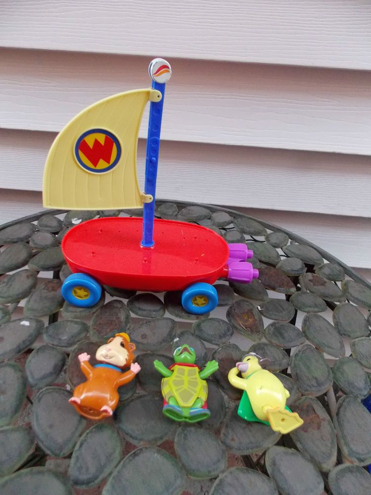Wonder Pets Musical Fly Boat Ming Tuck Linny Figures Fisher Price