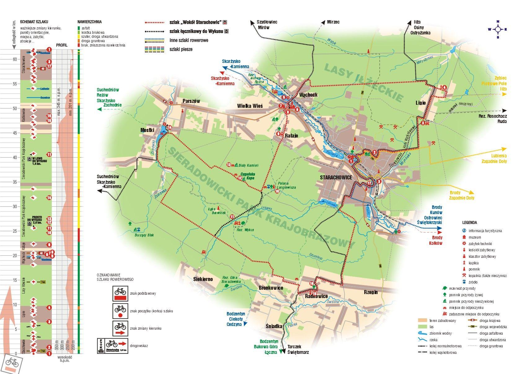 Turystyczne Szlaki Rowerowe Powiat Starachowicki Map Info Map Screenshot