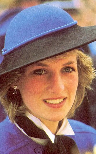 April 9, 1985: Princess Diana after attending a service at Hereford Cathedral in Herefordshire.