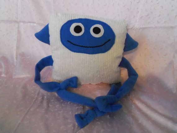 Cute and cuddley fleece animal pillows by picklesandpompoms, $14.95