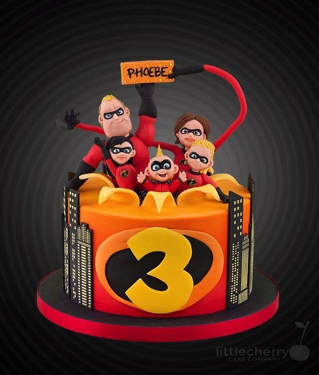 The Incredibles 3rd Birthday Cake Tortas Infantiles