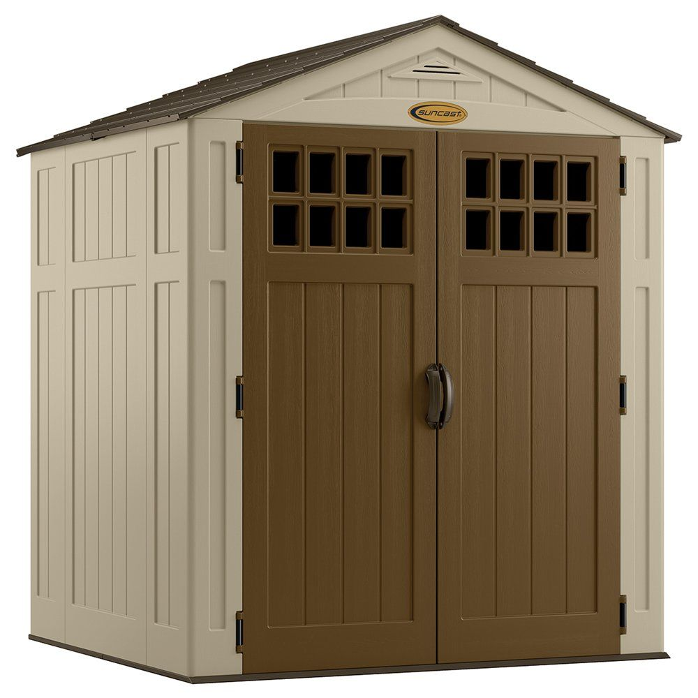 suncast sierra 6 ft x 5 ft storage shed at lowes canada - Garden Sheds Canada