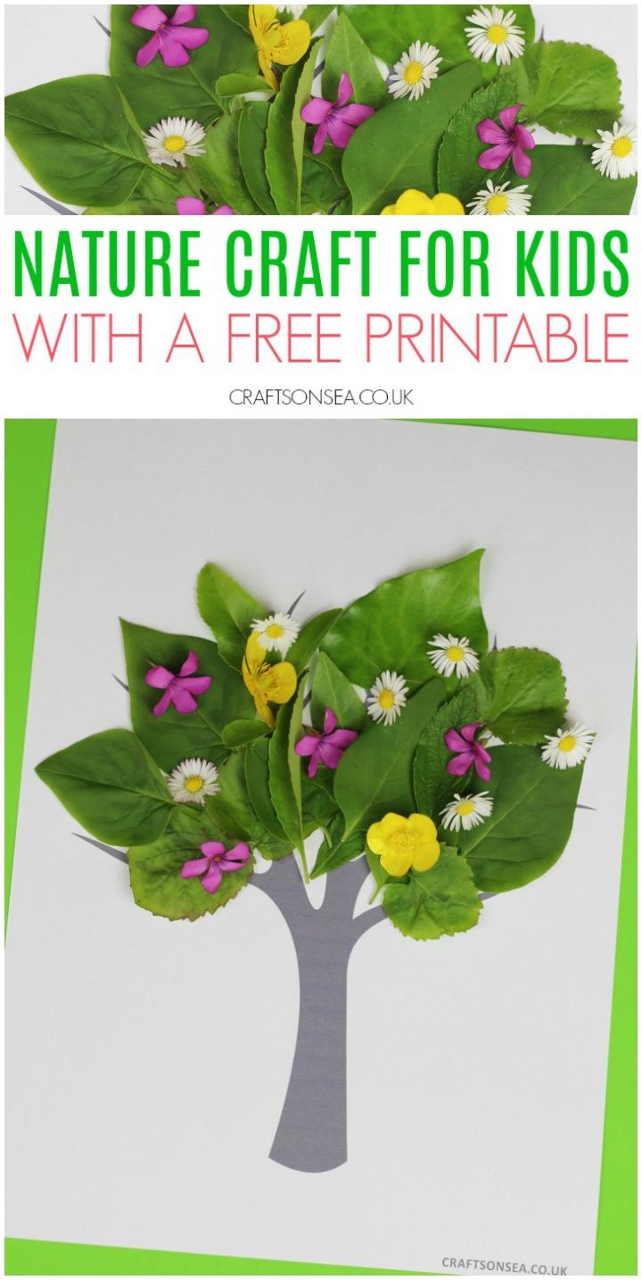 Photo of Tree Nature Craft for Kids with Free Printable –  Das schönste Bild für  decor…