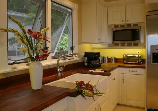 Countertops Finished With Teak Oil Have A Higher Sheen
