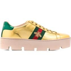 Gucci 'Ace' Sneakers mit Plateau - Gold Gucci