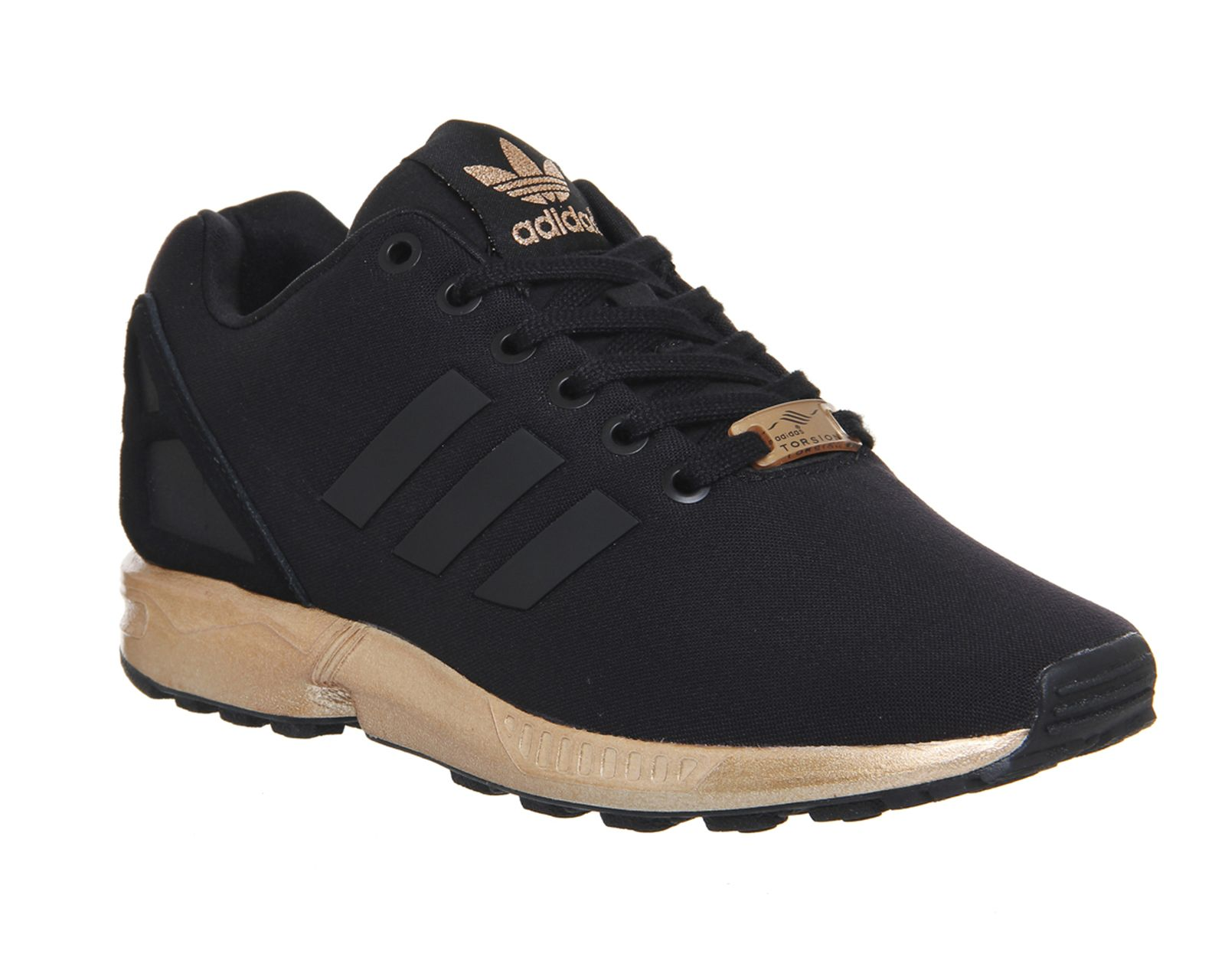 Buy Black Metallic Copper Adidas Zx Flux from OFFICE.co.uk ...