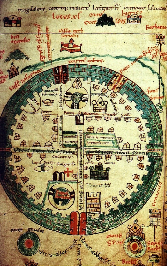 Map Plan of Jerusalem conducted between 1100