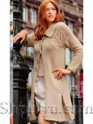Пальто с рукавом 3/4 - схема вязания спицами. Вяжем Пальто на 32