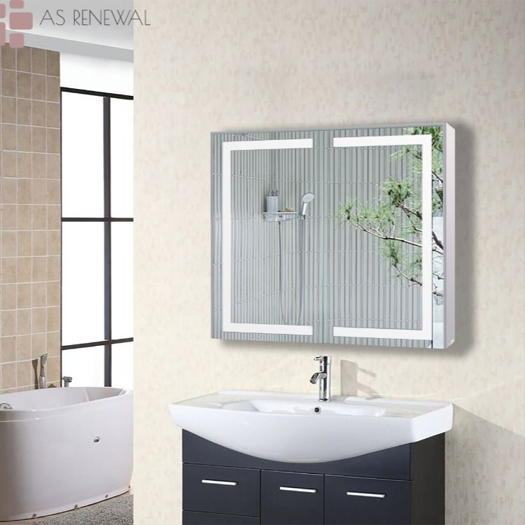 As Renewal Gd 32 Inch Led Wall Mounted Bathroom Vanity Medicine Cabinet In 2020 Wall Led Wall Mount
