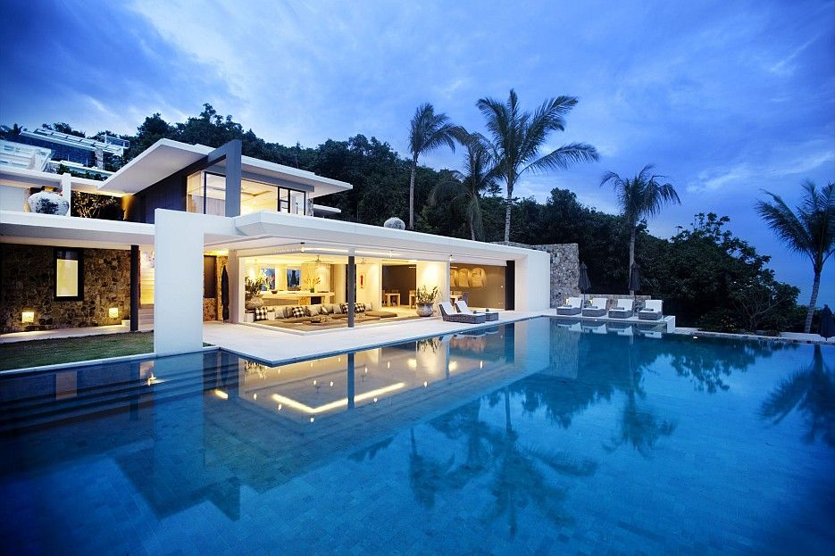Crisp asian villa design on the island of koh samui