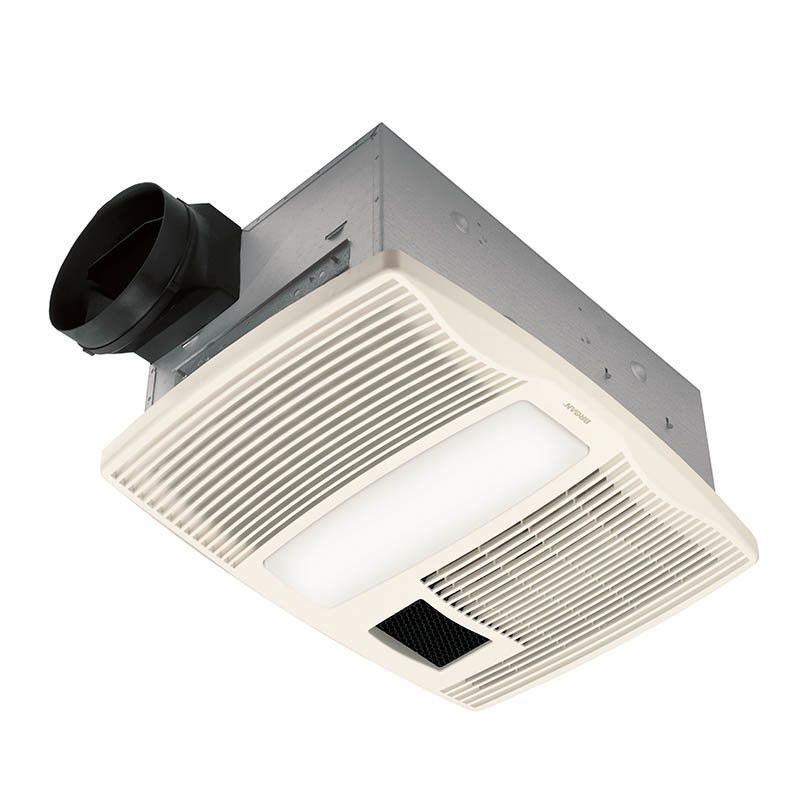 Broan Qtx110hl White Ultra Silent Bathroom Exhaust Fan With Light And Heater