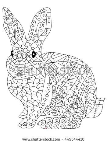 Adult Anti Stress Coloring Page With High Details Isolated On