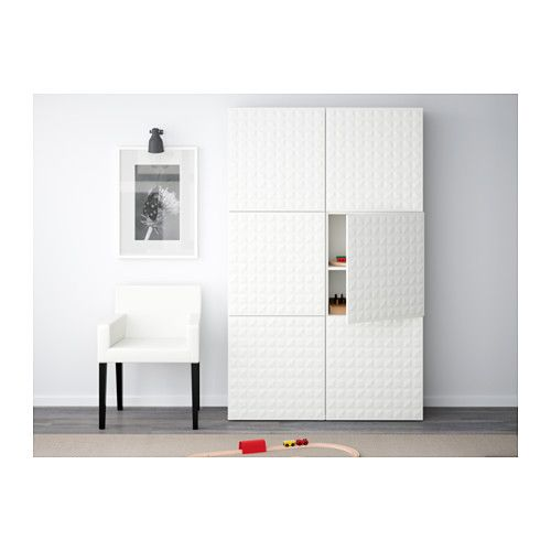 BESTÅ Storage combination with doors, Lappviken white - Armoire Ikea Porte Coulissante