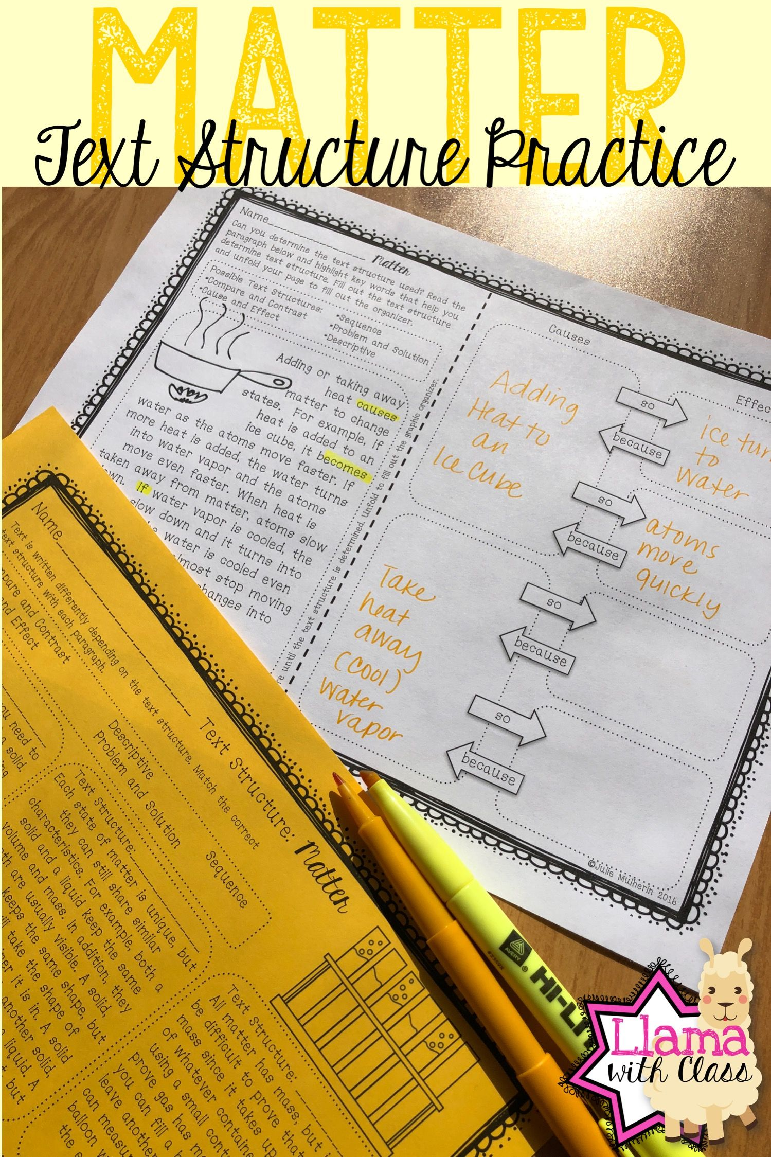 Matter Text Structure Practice