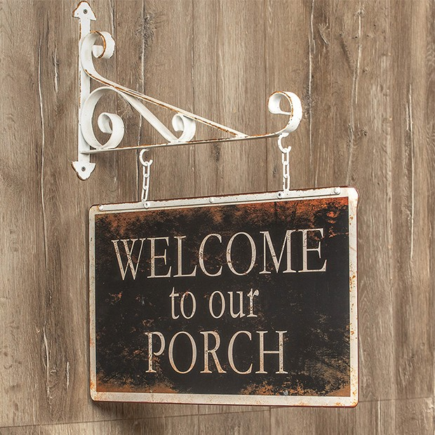 Welcome To Our Porch Hanging Sign Porch Signs Hanging Signs Porch Welcome Sign