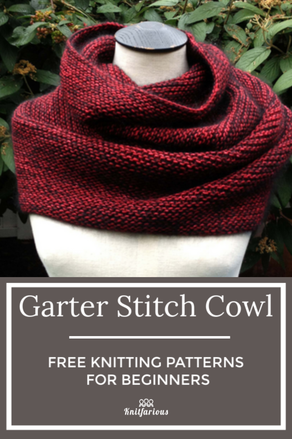 Photo of Garter Stitch Cowl: Free Knitting Patterns for Beginners