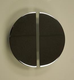 Contemporary Designer Door Pull Handles Com Art Deco Half Moon