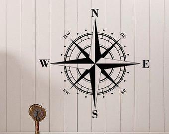 Amazon Com Adventure Awaits Wall Decals Vinyl Stickers Decal Nautical Compass Nursery Boys Decor Nautica Wall Stickers Nursery Boy Boy Decor Nursery Decor Boy
