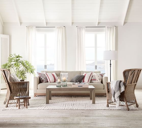 irvine accent chair  pottery barn  living room living